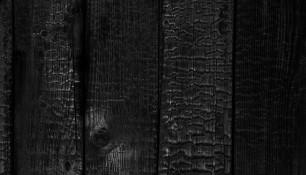 Façade bois brulé / Fassade geschwärztes Holz
